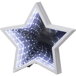 Lampa, Bordsdekoration Led, Mirror Stjärna Vit