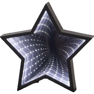 Lampa, Bordsdekoration Led, Mirror Stjärna Svart
