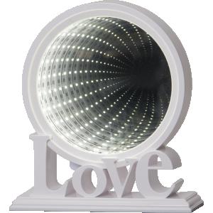 Lampa, Bordsdekoration Led, Love Vit