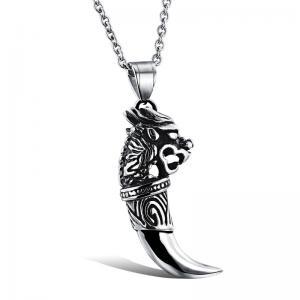 Halsband rostfritt stål, dragon