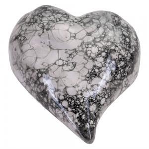 Dekorationshjärta, Bubble, Gråmelerat