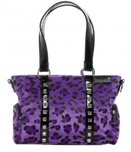Leopardmönstrad Handväska, Lila