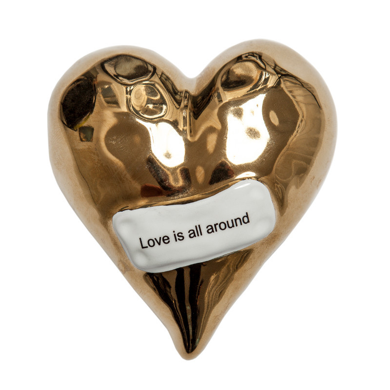 Dekorationshjärta, Guld