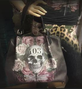 Designhandväska, Black skull 403