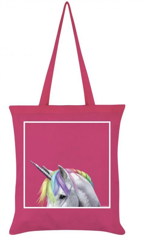 Tygväska/Shoppingbag, Pink Unicorn