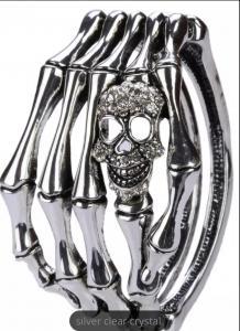 Döskallearmband hand, Silver