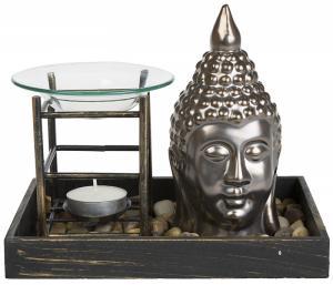 Aromalampa, Buddha, Silvergrå