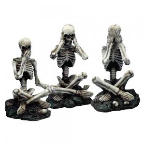 Dekorationer 3-pack, Skeleton