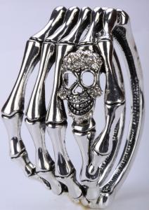 Döskallearmband hand ,Silver