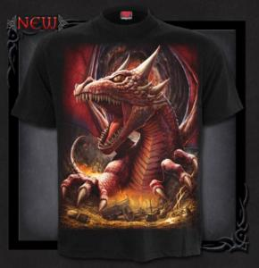 T-shirt, Spiral, Awake the Dragon