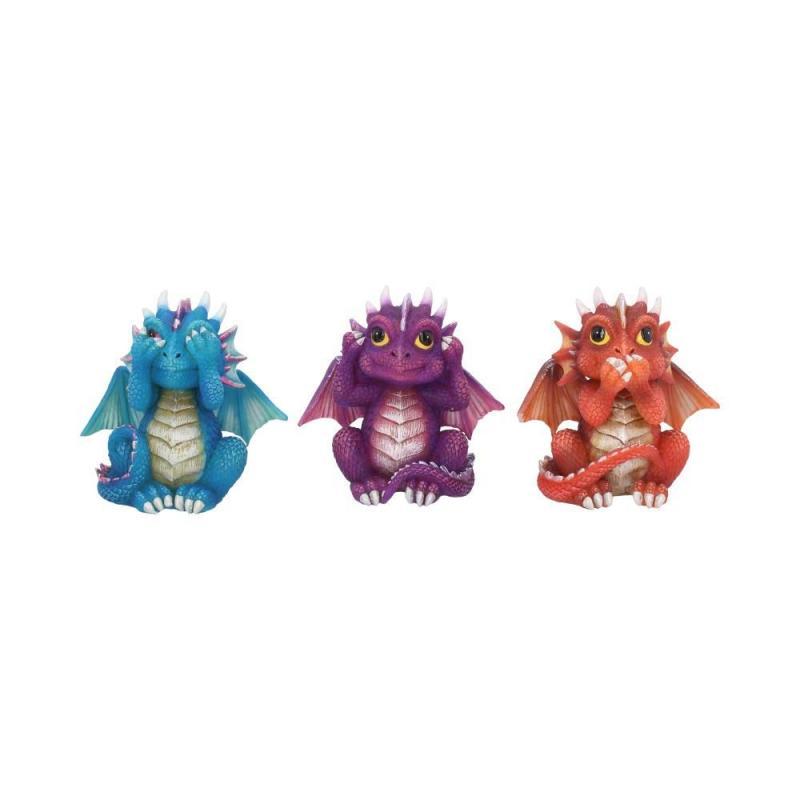 Dekorationer 3-pack, Drakar Dragonlings