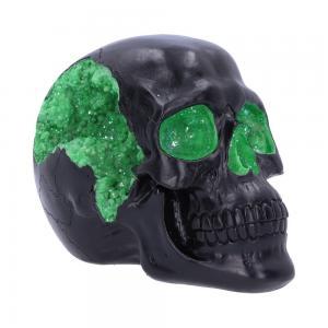 Dekoration Döskalle Geode Skull Green
