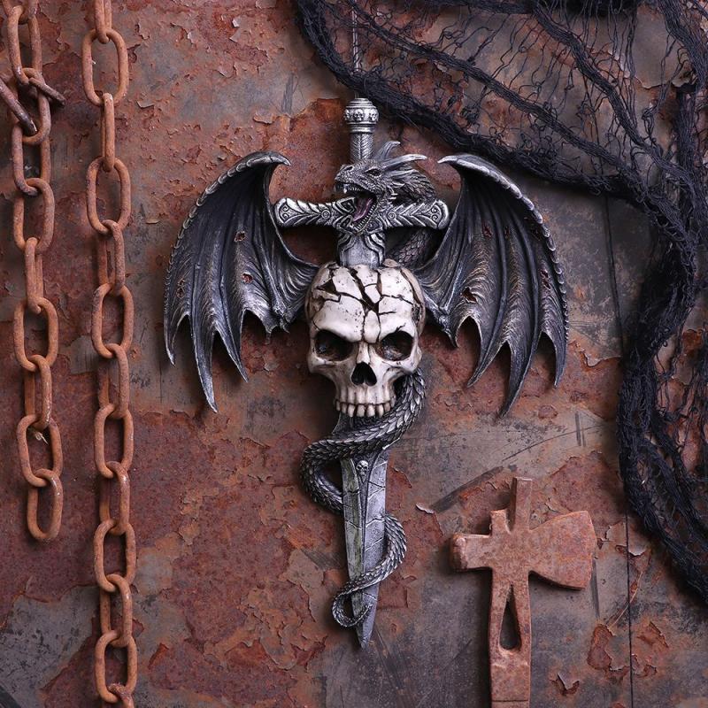 Väggdekoration, Draco Skull Wall Plaque