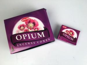 Rökelsekoner, Opium