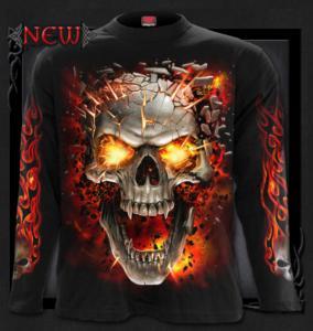 T-shirt Långärmad, Spiral, Skull Blast