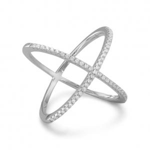 Ring, Criss Cross Silver