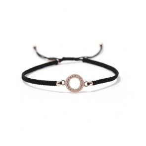 Armband, Circle black/rosegold