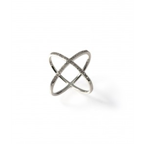 Ring, Criss Cross Silver