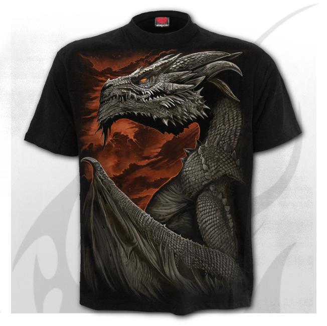 T-shirt, Spiral, MAJESTIC DRACO