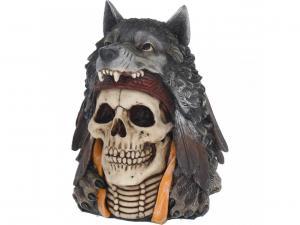 Döskalle Dekoration Wolf Spirit