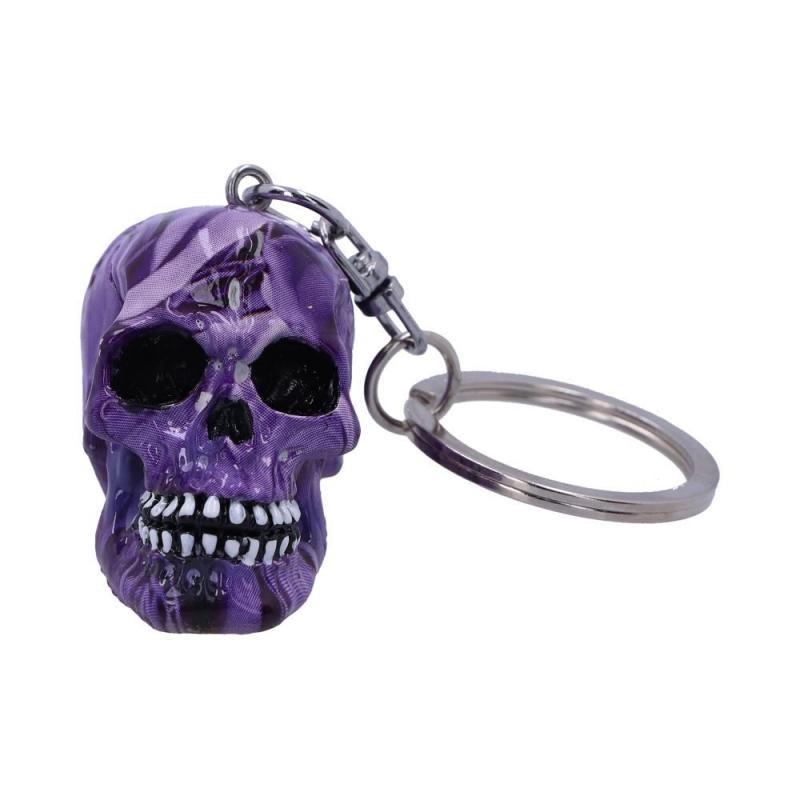 Nyckelring, Döskalle Purple Romance