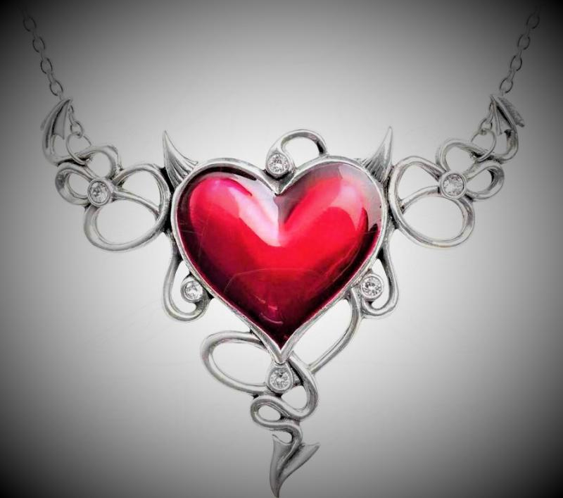 Design halsband Devils Heart XL