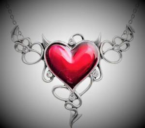 Design halsband Devils Heart XL