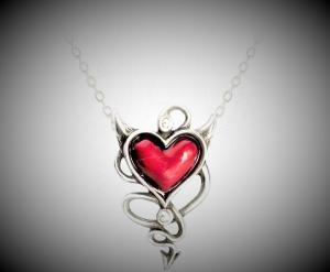 Design halsband Devils heart