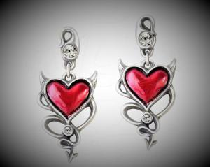 Design örhängen Devils heart