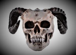 Designdöskalle Devils Head