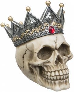 Döskalle Dekoration Krona, sparbössa