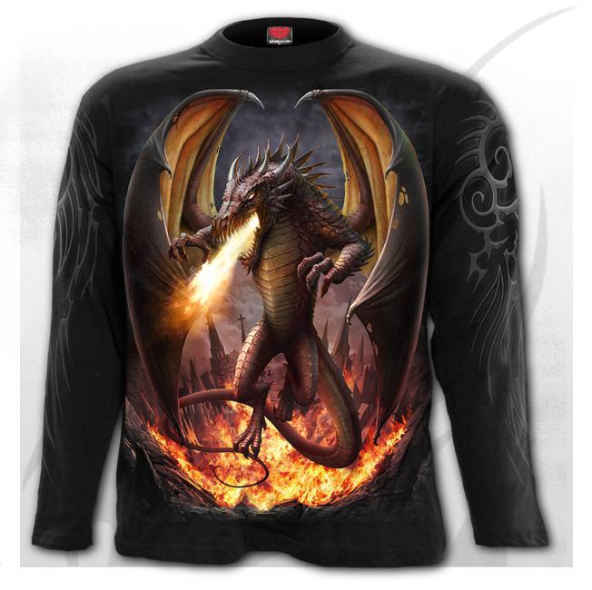T-shirt, Långärmad, Spiral, Draco Unleashed