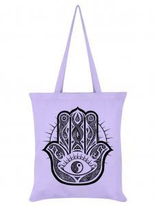 Tygväska/Shoppingbag, Hamsa Hand Lilac
