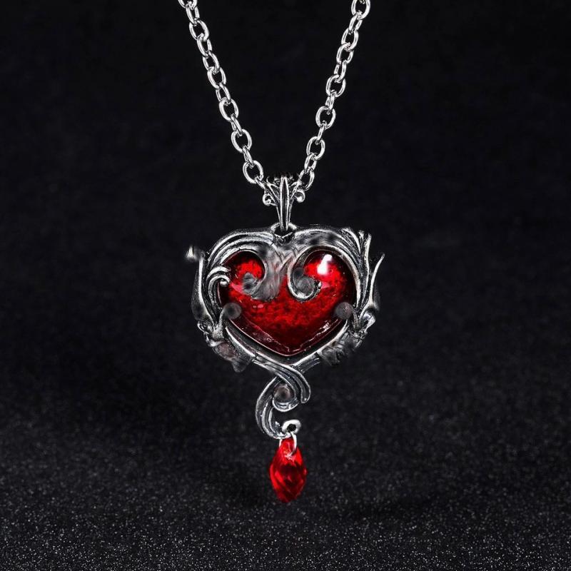 Halsband, Skull Heart , 2 Färger