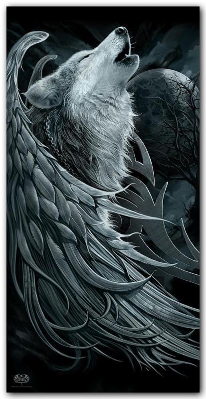 Handduk, Wolf Spirit