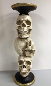 Ljusstake Skulls Påle