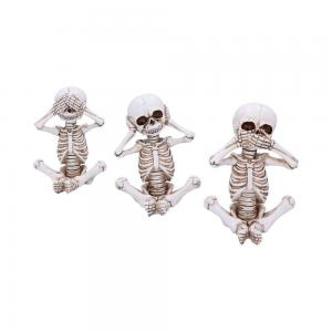Dekorationer 3-pack, See no, hear no, speak no, Skellywags