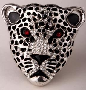 Leopard Ring Silver