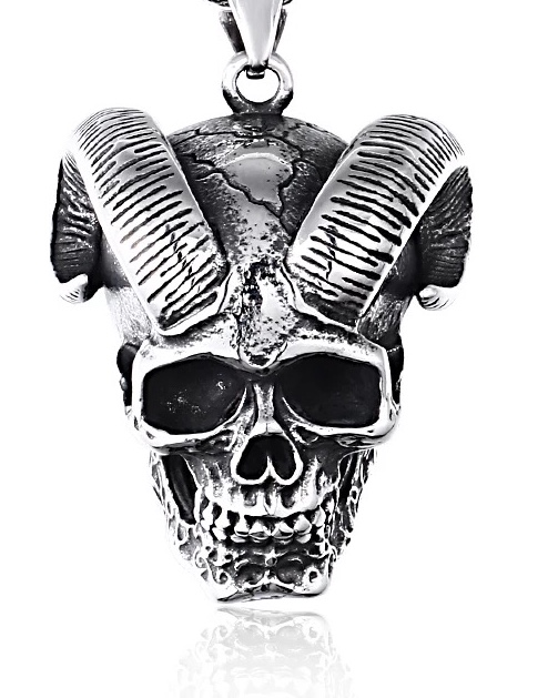 Halsband Devil Skull, rostfritt stål