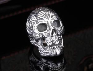 Döskallering i rostfritt stål, stor skalle