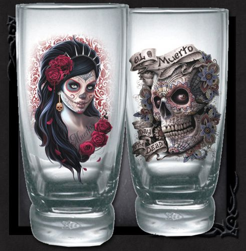 Coola dricksglas ifrån Spiral, DAY OF THE DEAD