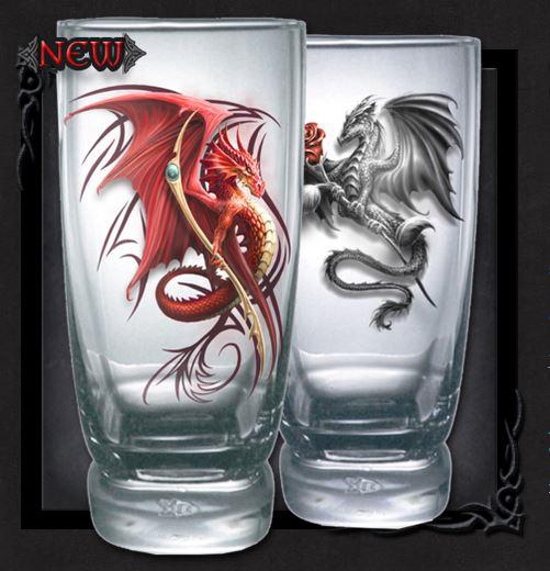 Coola dricksglas ifrån Spiral, Drakar