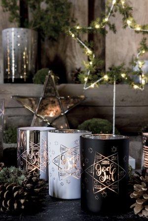 Maja lykta, God Jul, 3 färger