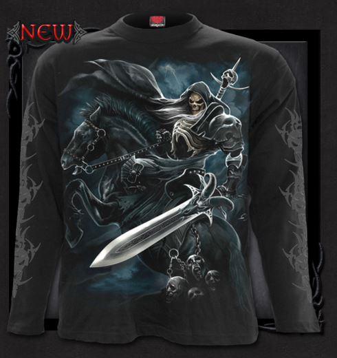 T-shirt långärmad,Spiral, Grim Rider