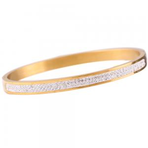 Stainless Armband med strass, Guld