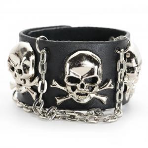 Rockigt armband i äkta läder a44bffd1e38de
