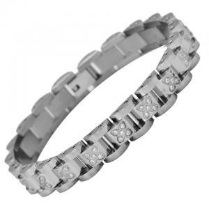 Armbandslänk, Strass, Rostfritt stål