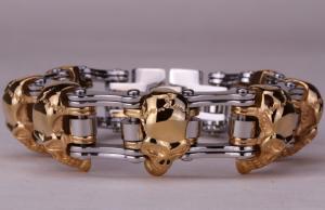 Armband Bikers Silver/Guld