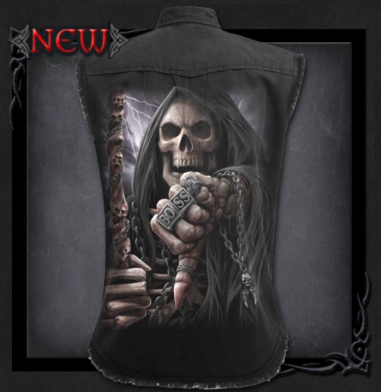 Rockskjorta, ärmlös, Boss Reaper