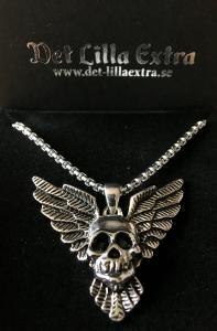 Halsband i rostfritt stål Skull